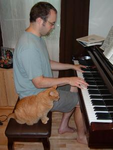 My composition assistant Charlie and I.